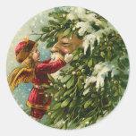 Pegatinas del navidad de Santa del Victorian
