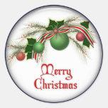 pegatinas del navidad etiquetas redondas
