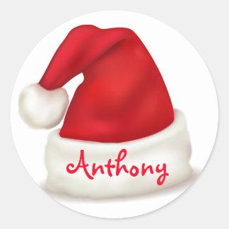Pegatinas del navidad/gorra personalizados de pegatina redonda