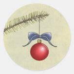 pegatinas del navidad pegatinas redondas