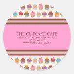 Pegatinas del negocio de la panadería del café el pegatina redonda