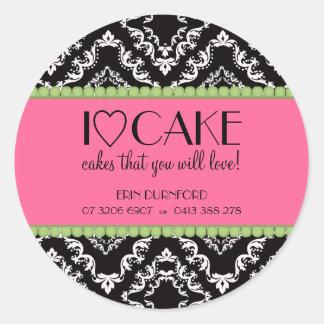 Pegatinas del negocio de la torta del ♥ I