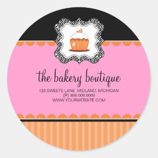 Pegatinas del negocio del boutique de la panadería pegatinas redondas