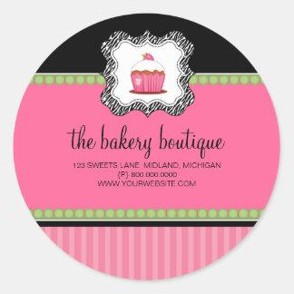 Pegatinas del negocio del boutique de la panadería