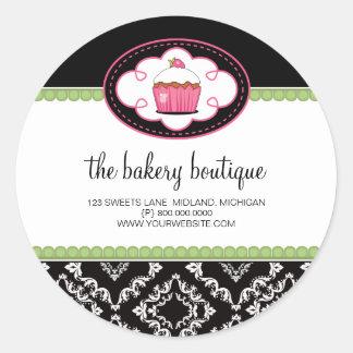 Pegatinas del negocio del boutique de la panadería pegatina redonda