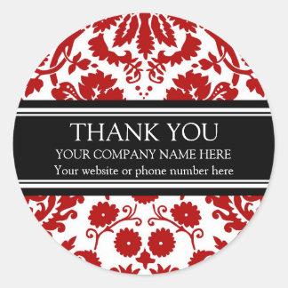 Pegatinas del nombre de Business Thank You Custom Etiquetas Redondas