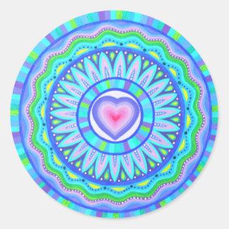 Pegatinas del número 9 de la poción de amor pegatina redonda