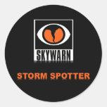 Pegatinas del observador de tiro de la tormenta de pegatina redonda