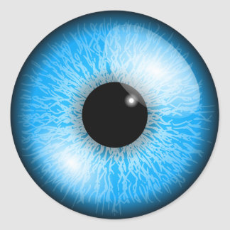 Pegatinas del ojo azul etiquetas redondas