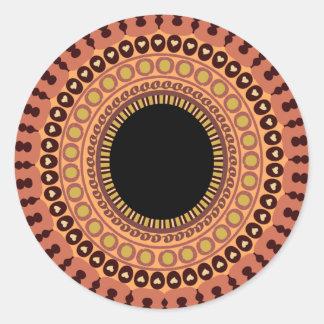 Pegatinas del ojo del búho pegatina redonda