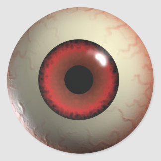 Pegatinas del ojo del diablo rojo pegatina redonda