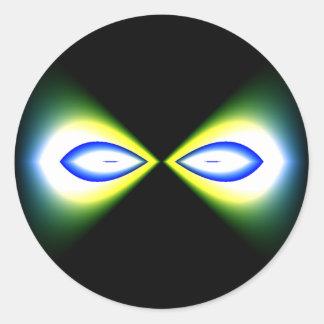 Pegatinas del ojo del Matemáticas-ARTE