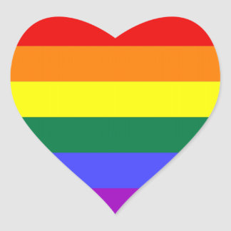Pegatinas del orgullo de LGBT (corazón) Pegatina En Forma De Corazón