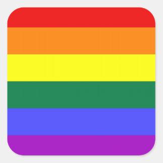 Pegatinas del orgullo de LGBT (cuadrado) Pegatina Cuadrada