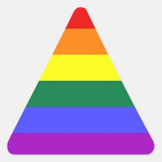 Pegatinas del orgullo de LGBT (triángulo) Pegatina Triangular