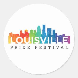 Pegatinas del orgullo de Louisville Pegatina Redonda