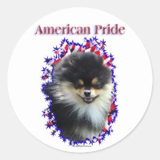 Pegatinas del orgullo de Pomeranian Pegatina Redonda