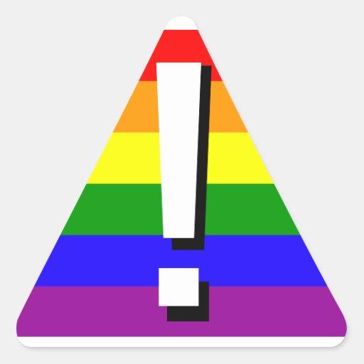 Pegatinas del orgullo del arco iris - advirtiendo pegatina triangular