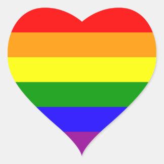 Pegatinas del orgullo del arco iris - corazón pegatina en forma de corazón