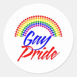 Pegatinas del orgullo gay pegatinas redondas