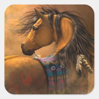 Pegatinas del oro de Kiowa Pegatina Cuadrada