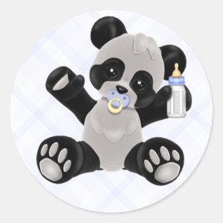 Pegatinas del oso de panda del bebé pegatina redonda