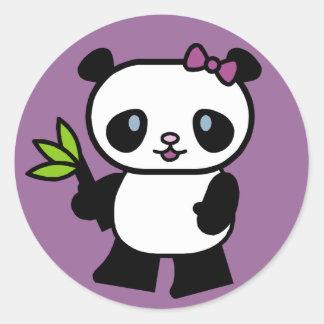 Pegatinas del oso de panda pegatina redonda