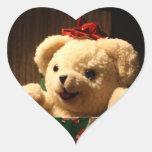 Pegatinas del oso de peluche del navidad pegatina en forma de corazón
