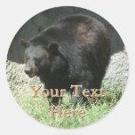 Pegatinas del oso negro pegatinas redondas