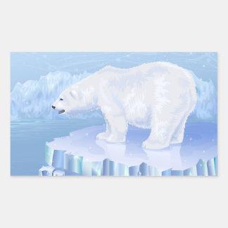 Pegatinas del oso polar pegatina rectangular