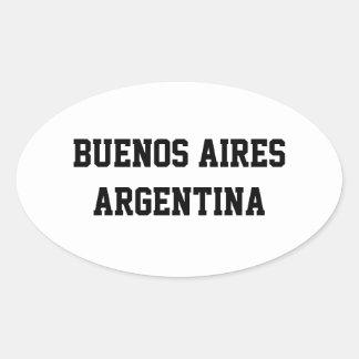 Pegatinas del óvalo de Buenos Aires la Argentina Pegatina Ovalada