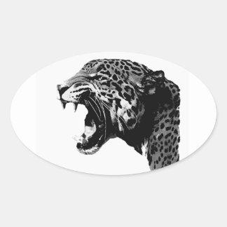 Pegatinas del óvalo de BW Jaguar Pegatina Ovalada