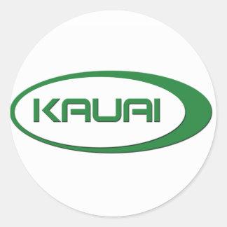 Pegatinas del óvalo de Kauai Pegatina Redonda