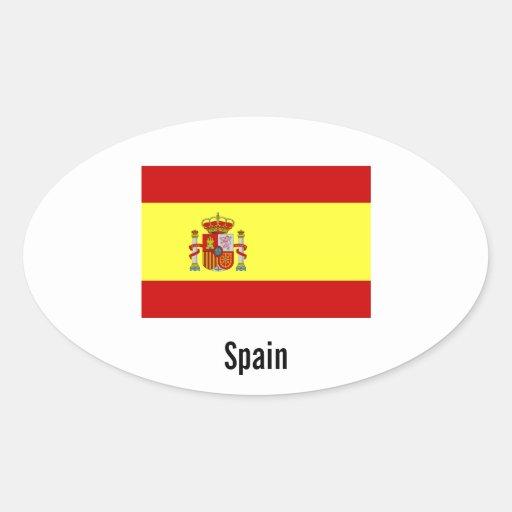 Pegatinas del óvalo de la bandera de España Pegatina Ovalada