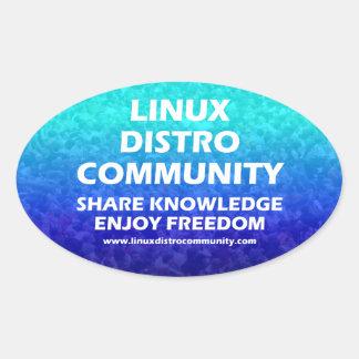 Pegatinas del óvalo de la comunidad de Linux Pegatina Ovalada