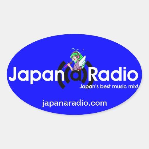 ¡Pegatinas del óvalo de la Japón-UNO-Radio! Calcomanía De Óval Personalizadas