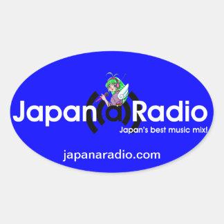 ¡Pegatinas del óvalo de la Japón-UNO-Radio! Pegatina Ovalada