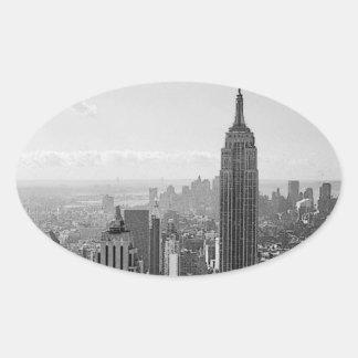 Pegatinas del óvalo de New York City