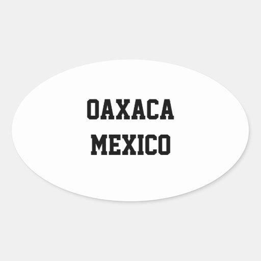 Pegatinas del óvalo de Oaxaca México Pegatina Ovalada