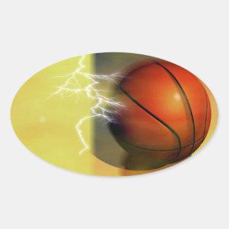 Pegatinas del óvalo del baloncesto pegatina oval