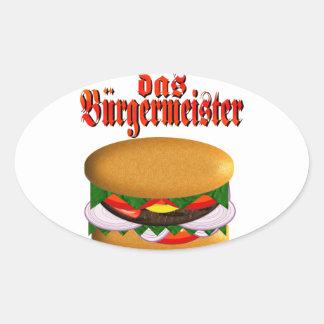 pegatinas del óvalo del das Burgermeister Pegatina Ovalada