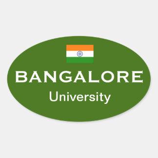 Pegatinas del óvalo del Euro-estilo de Bangalore Calcomania De Oval Personalizadas