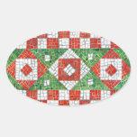 Pegatinas del óvalo del mosaico del día de fiesta calcomanías ovaladas