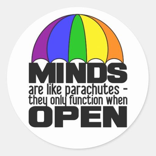 Pegatinas del paracaídas del arco iris