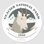 Pegatinas del parque nacional de glaciar del arte