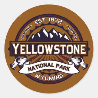 Pegatinas del parque nacional de Yellowstone Etiquetas Redondas