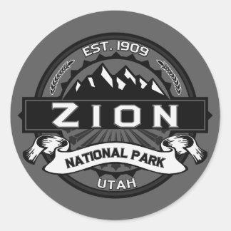 Pegatinas del parque nacional de Zion Pegatina Redonda