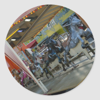 Pegatinas del paseo del caballo del parque de pegatina redonda