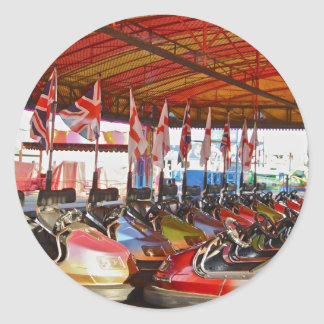 Pegatinas del paseo del Funfair de los cocheses de Pegatina Redonda