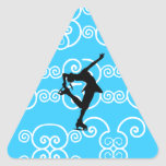 Pegatinas del patinaje artístico calcomanías trianguloes